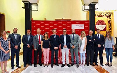 Reunión con el rector de la Universidad de Murcia